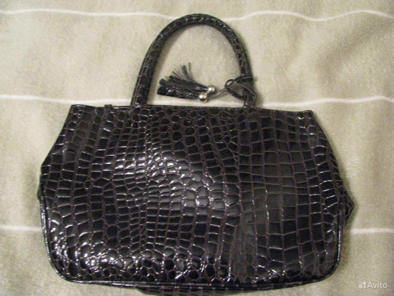 b18af69b98c4 Лаковая женская сумка + кошелек.