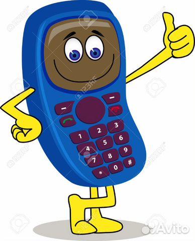 Мобильный телефон с рисунками