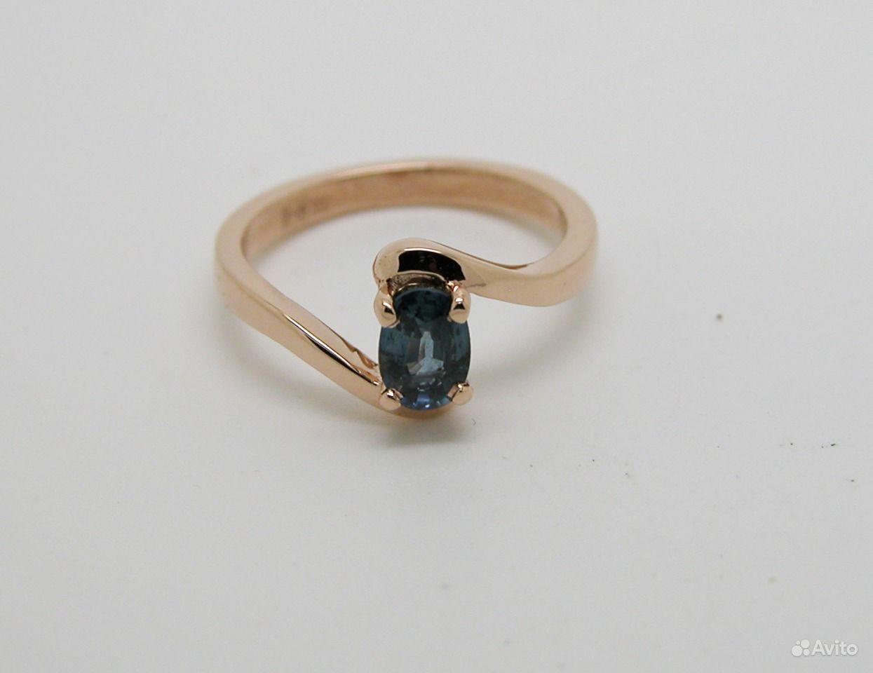 кольца с овальным сапфиром