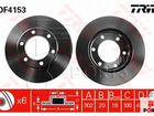 Передние тормозные диски TRW DF4153