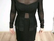 8acdaaf8adf9 Черное платье River Island из парчи и сетки