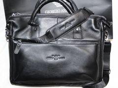 8b48467cf604 Мужская кожаная сумка G. Armani деловая новая A43 190 руб.Москва