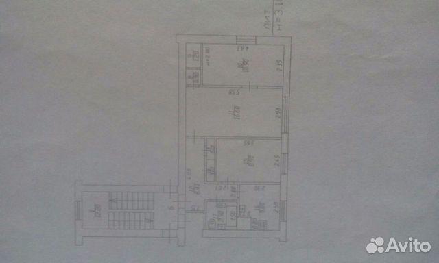 Продается трехкомнатная квартира за 2 900 000 рублей. Тургенева131.