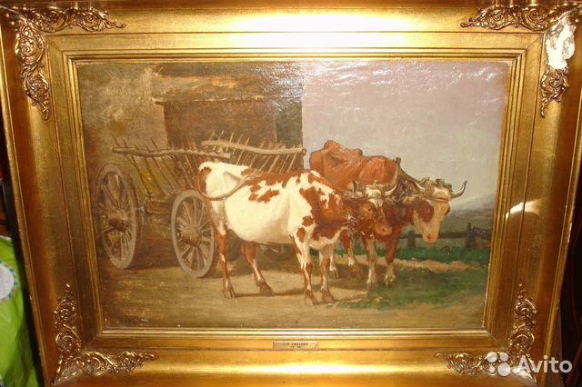 проверки авито москва старинная картина купить в москве Пушкинской