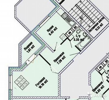 Продается однокомнатная квартира за 2 490 000 рублей. Северное шоссе, 10.