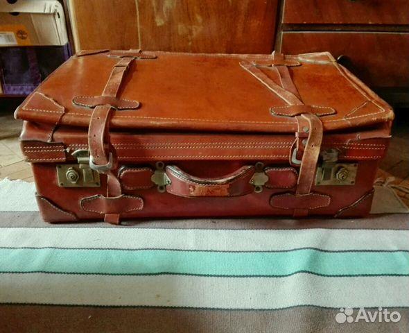 a56b004ed336 Кожаный чемодан большой СССР винтаж Польша купить в Москве на Avito ...