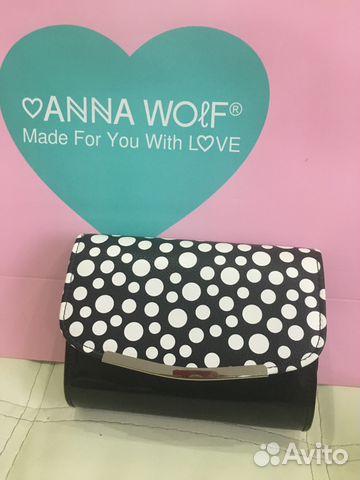 7dfd0026c0ee Черный лаковый клатч от Anna Wolf купить в Москве на Avito ...