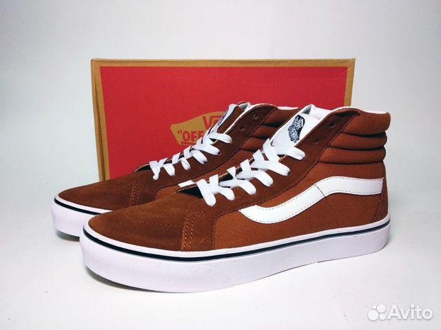 19955b11e397 Кеды Vans Old School Sk8 Hi мужские коричневые купить в Москве на ...