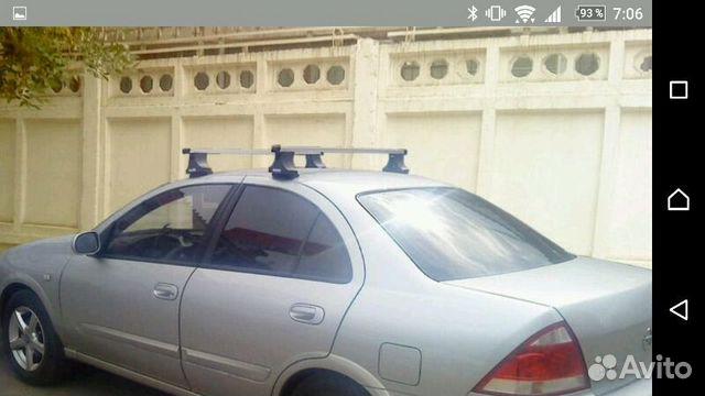 На Nissan Almera Classic багажник на крышу, попере— фотография №1 495cddc2273