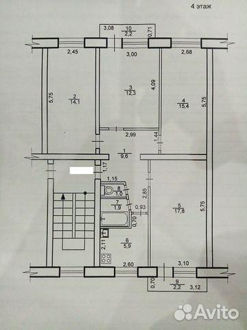 Продается четырехкомнатная квартира за 3 350 000 рублей. Ханты-Мансийский АО, Югорск, Ханты-Мансийский автономный округ, улица Кирова, 10.