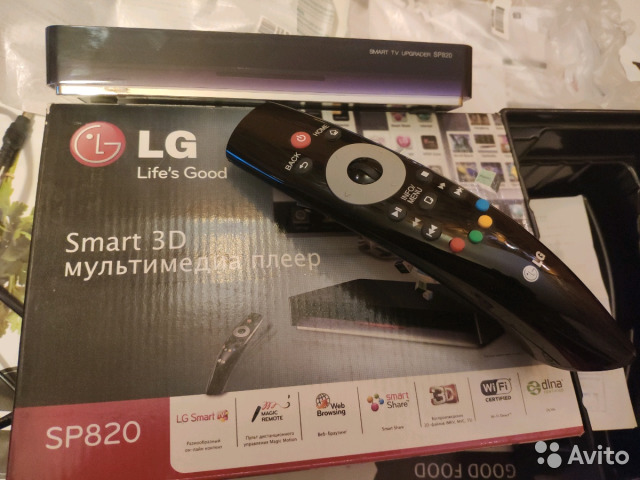 Медиаплеер LG SP820 Smart WiFi 3D