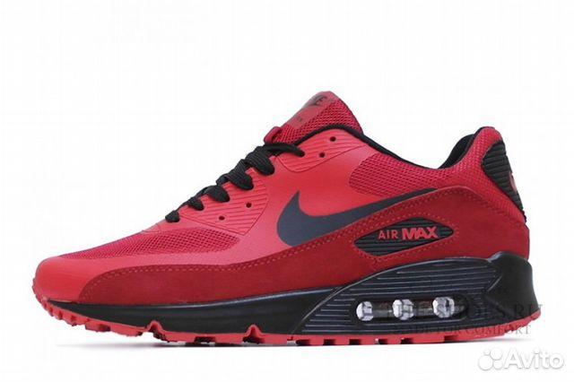c5e5f129 Nike Air Max 90 Hyperfuse красные с черным (40-44) | Festima.Ru ...