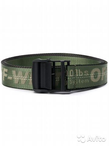 Ремень Off-White Industrial belt military green купить в