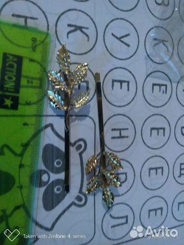 2 заколки листики для волос  89618768385 купить 1