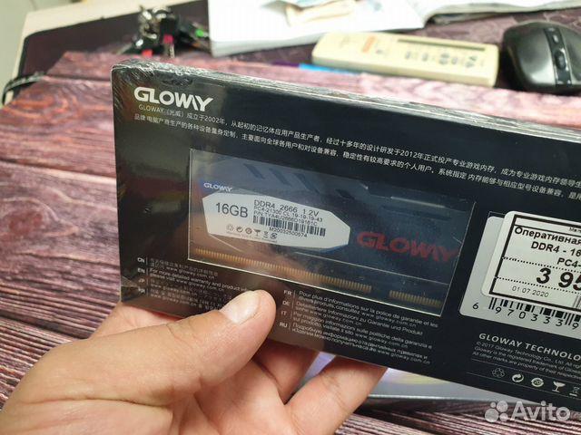 Новая Оперативная память glowy DDR4 16 GB 2666 GHZ купить 8