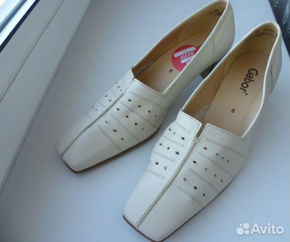 Gabor 41-42 новые женские кожаные туфли  89585853262 купить 1
