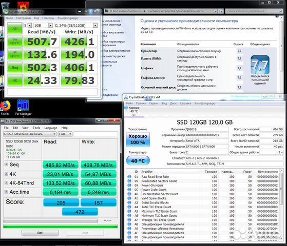 SSD 1Tb 512Gb SATA-3 GoldenFir Reeinno Новый