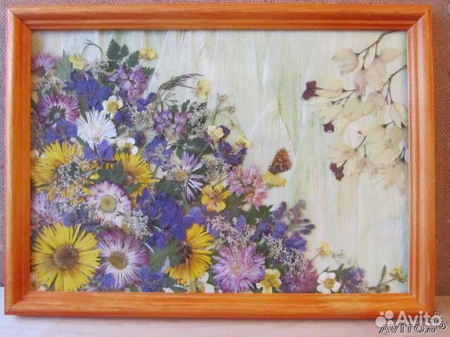 Картина из сухих цветов