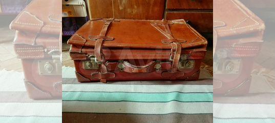 8dd1d3a0b4dc Кожаный чемодан большой СССР винтаж Польша купить в Москве на Avito —  Объявления на сайте Авито