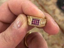 Золотое кольцо с натуральными рубинами