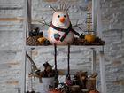 Снеговик с варежкой. Интерьерная игрушка