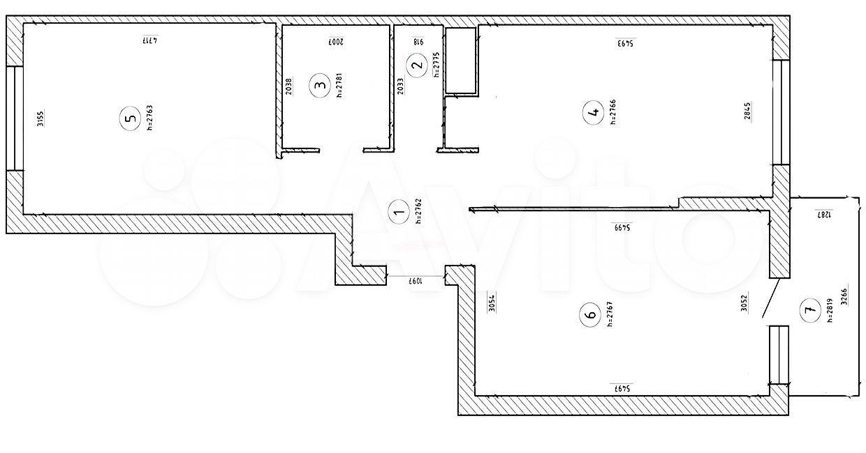 2-к квартира, 60.2 м², 3/18 эт.  89587855404 купить 5
