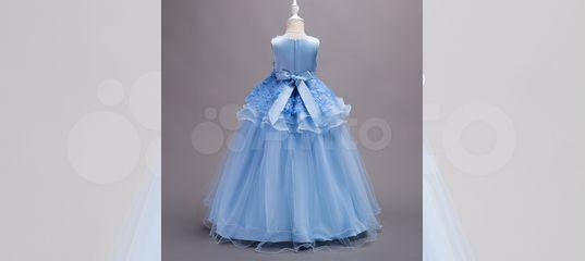e2034ef297a Шикарное длинное бальное платье голубое Новое купить в Москве на Avito —  Объявления на сайте Авито