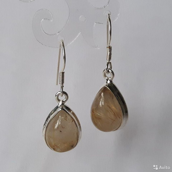 Серьги с натуральными камнями  89112231871 купить 1