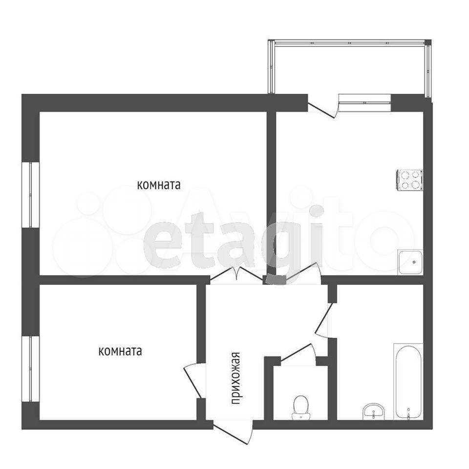 2-к квартира, 43 м², 2/4 эт.  89605383253 купить 10
