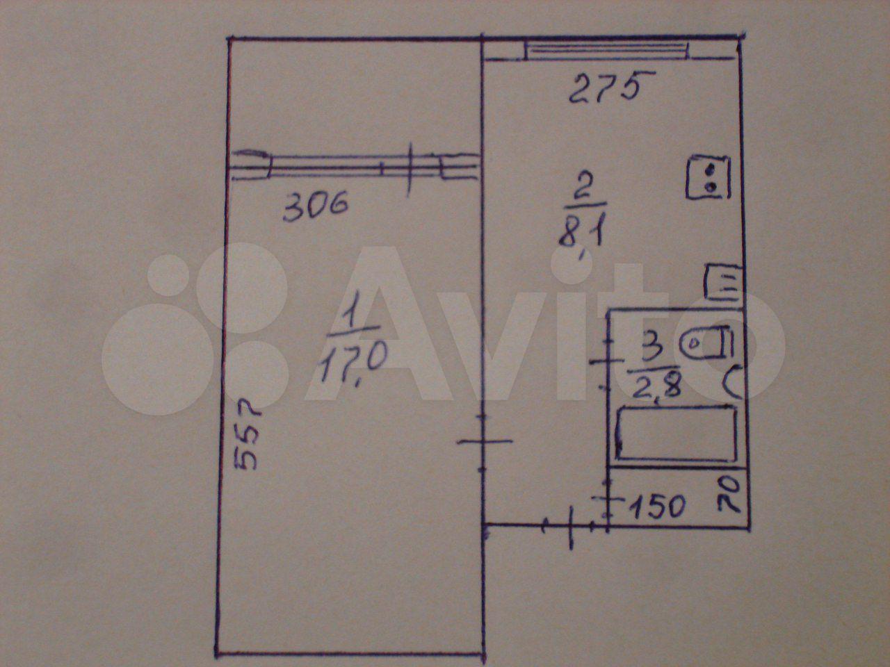 1-к квартира, 34 м², 2/9 эт.  89503402348 купить 6
