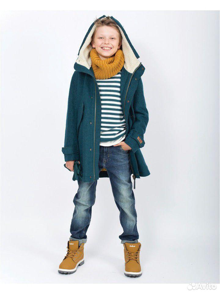 Пальто, шапка и снуд р. 140 на мальчика Gulliver  89059801353 купить 1