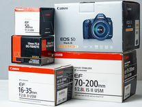 Объективы Canon 50mm f/1.4 Sigma 15mm f/2.8