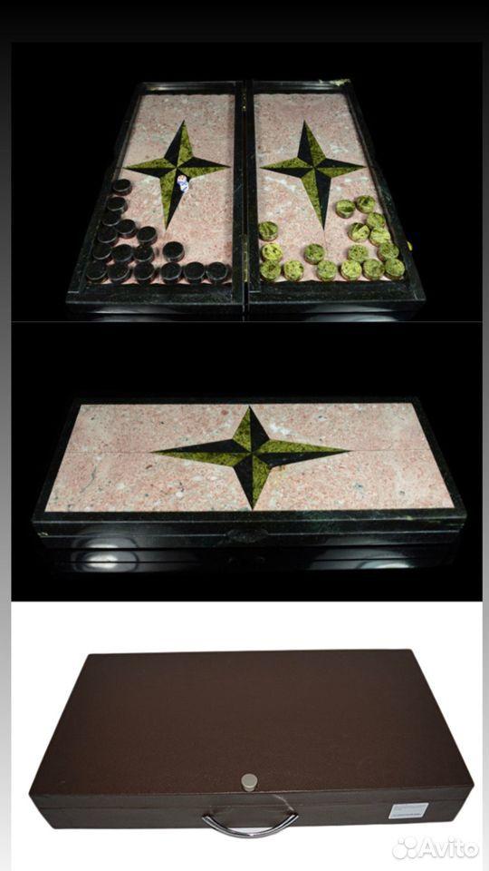 Подарочные нарды из натурального камня змеевика  89122288587 купить 8