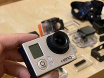 Камера GoPro Hero 3 Black + крепления аксессуары — Аудио и видео в Казани