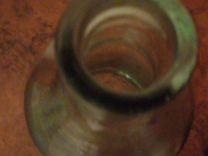 Бутылка четверть, стакан граненый коричневое стекл